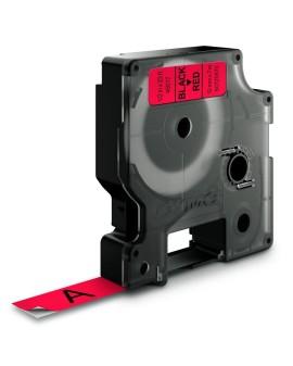 Taśma D1 - 12 mm x 7 m, czarny / czerwony - 5411313450171 -  S0720570 - 2