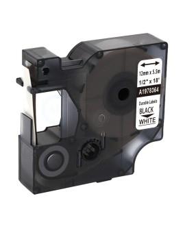 Taśma D1 Durable - 12 mm x 5,5 M - czarny / biały - 3501179783642 -  1978364 - 1
