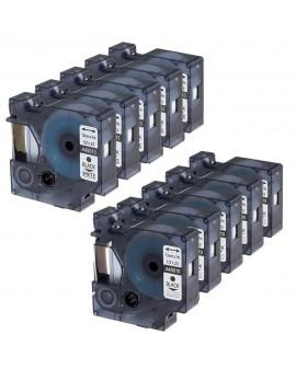 Taśma D1 - 12 mm x 7 m, czarny / biały - VALUE PACK 10 szt. - 3026980930974 -  2093097 - 1