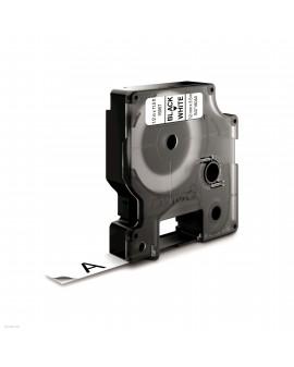Taśma D1 - 12 mm x 3.5 m - NYLONOWA, czarny / biały - 5411313169578 -  S0718040 - 1
