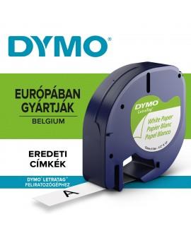 DYMO taśma 12mm/4m - papierowa, biały - 5411313912006 -  S0721500 - 1