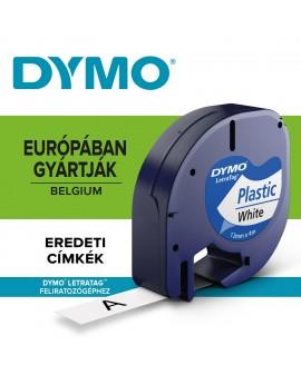 DYMO taśma 12mm/4m - plastikowa, biały - 5411313912211 -  S0721560 - 1