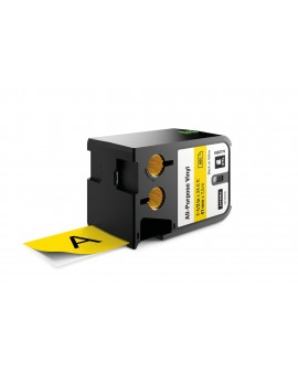 DYMO XTL taśma winylowa trwała (41 mm), Czarna na żółtym 7m długości - 71701001535 -  1868774 - 1