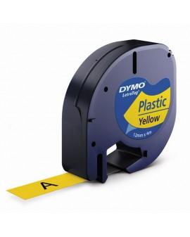 Taśma Letra Tag 12mm/4m - plastikowa, żółty - 5411313912020 -  S0721570 - 1