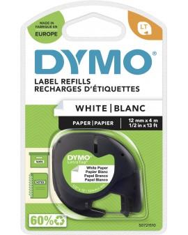 taśma DYMO 12mm/4m - papierowa, biały - 5411313912006 -  S0721510 - 2