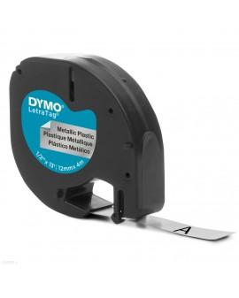 taśma DYMO 12mm/4m - plastikowa, srebrna - 5411313912082 -  S0721730 - 1