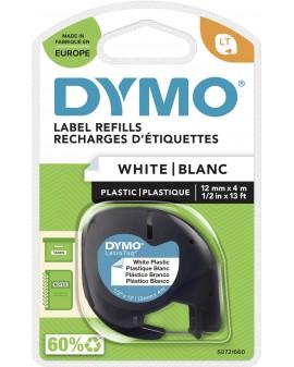 DYMO taśma 12mm/4m - plastikowa, biała - 5411313912211 -  S0721660 - 1