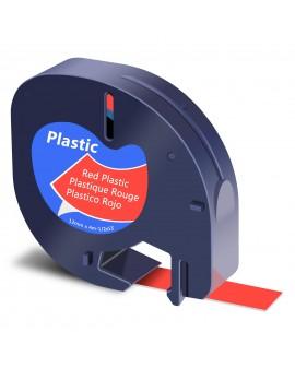 DYMO taśma 12mm/4m - plastikowa, czerwona - 5411313912037 -  S0721630 - 1